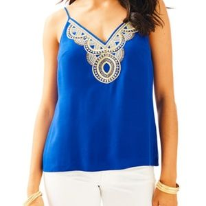 Lilly Pulitzer Lela Top in True Blue Size M